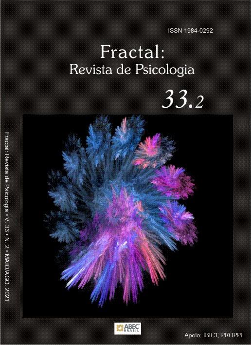 Capa da edição 33.2 do ano de 2021. A capa contém o número do ISSN, o título da revista, o número do volume e da edição e a imagem de um fractal