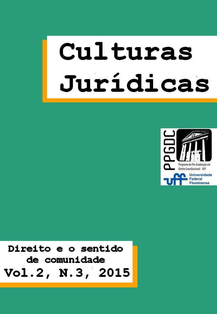 Volume 2, Número 3, 2015: Direito e o Sentido de Comunidade